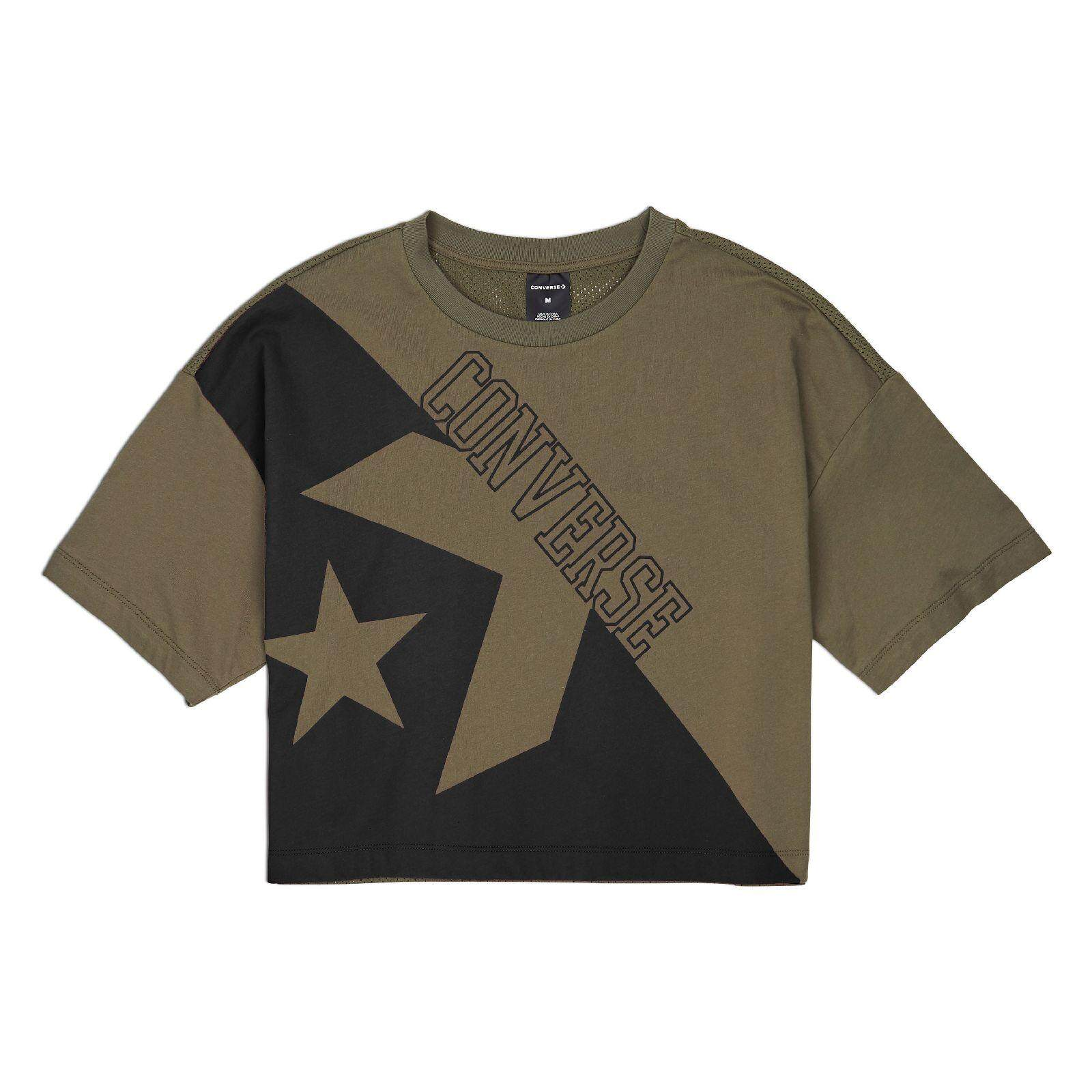 CONVERSE LINEAR WORDMARK BOXY TEE - FIELD SURPLUS - 10008582-322