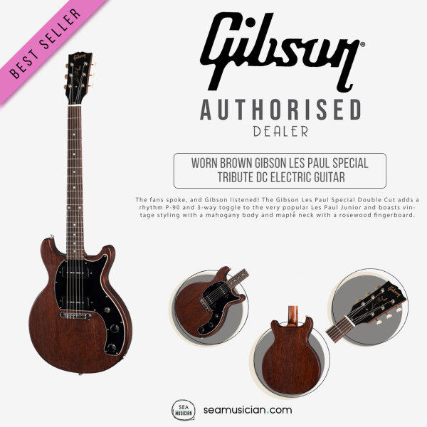 GIBSON LES PAUL SPECIAL TRIBUTE DC WORN BROWN ELECTRIC GUITAR Malaysia
