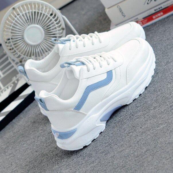 Phụ Nữ Lưu Hóa Giày Thời Trang Giản Dị 2020 Phụ Nữ Mới Thoải Mái Thoáng Khí Căn Hộ Màu Trắng Nữ Nền Tảng Sneakers Chaussure Femme giá rẻ
