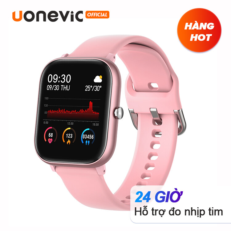 Đồng Hồ Thông Minh Uonevic P20a 1.4 Inch IPX HD Chống Nước Đồng Hồ Thông Minh Thể Thao Cho IOS Android for Men with GTS Touch Health Tracking for Xiaomi