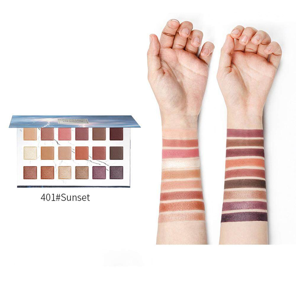 Colors 18 Textured Pallete Makeup Matte Faced Pearl Eye Shadow