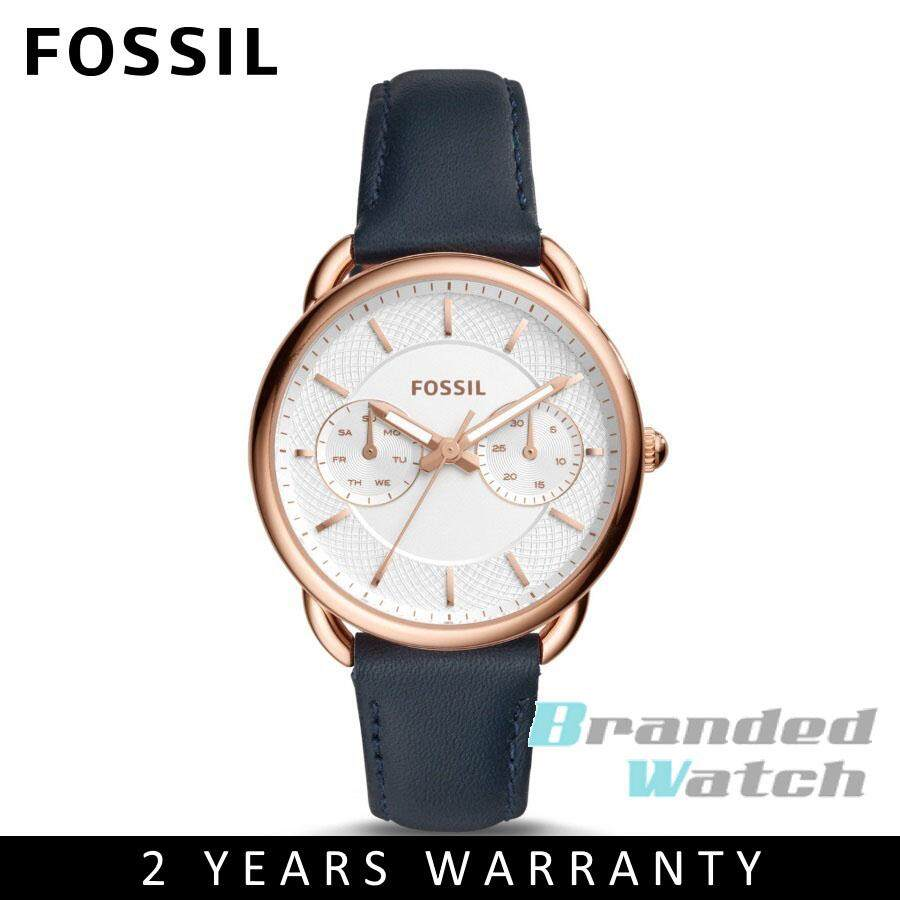 54238e9ba28 Fossil ES4260 Women s Tailor Multifunction Navy Leather Strap Watch