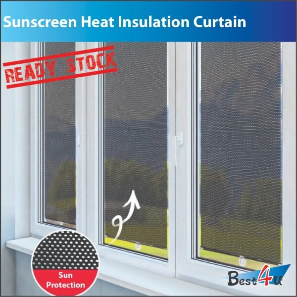 Sunscreen Heat Insulation Curtain / Sunshade Curtain / Non-perforated Roller Blinds Curtains