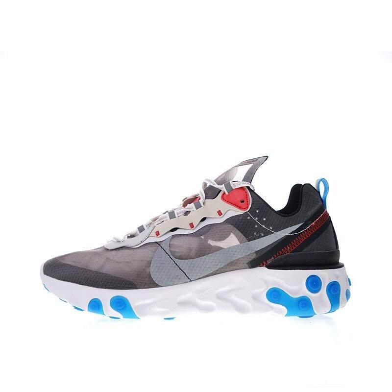 Nike Yang Akan Datang Bereaksi Elemen 87 Pria Berlari Sepatu Sport Sepatu  Sneaker Luar Ruangan Desainer e21ce99233