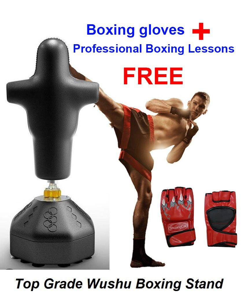 Sellincost Heavy Duty Human Dummy Punching Boxing Stand 175*50cm Fighting Standing Boxing Bag Martial Art With Sucking Cups (jhs-Hd02) Free Boxing Lessons + Boxing Gloves For Your Complete Workout By Sellincostasia.