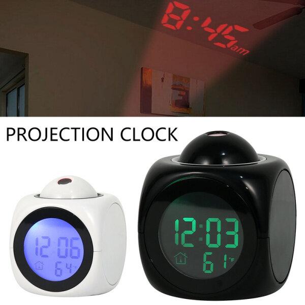 Đồng Hồ Báo Thức Kỹ Thuật Số Có Đèn LED, Màn Hình LCD Treo Tường/Trần Nhiệt Độ Bằng Giọng Nói bán chạy