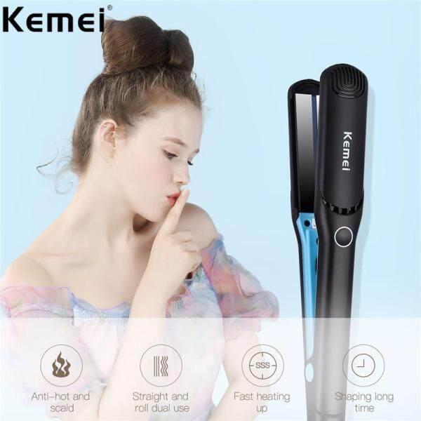 Kemei KM-2168 110-220V Bàn Chải Tóc Phẳng Chuyên Nghiệp Máy Duỗi Tóc Điện Thẳng Sắt Công Cụ Tạo Kiểu Gốm Tóc Sắt Plancha