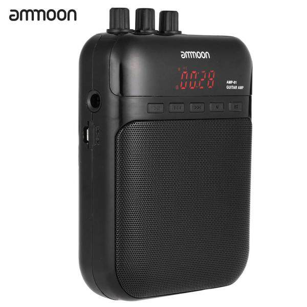 ammoon Portable Multifunction AMP -01 5W Guitar Amp Recorder TF Card Slot Compact Malaysia