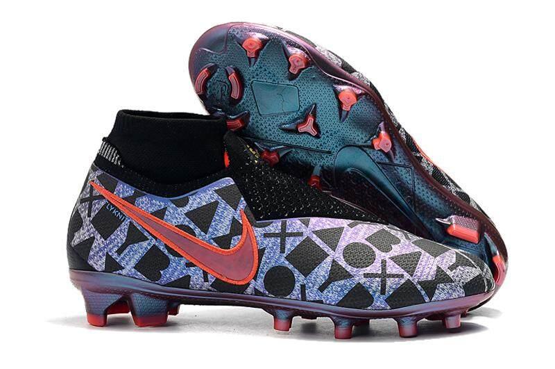 db56961cd6dd NIke Fully knitted waterproof Phantom VSN Shadow Elite DF FG soccer shoes  men football shoes
