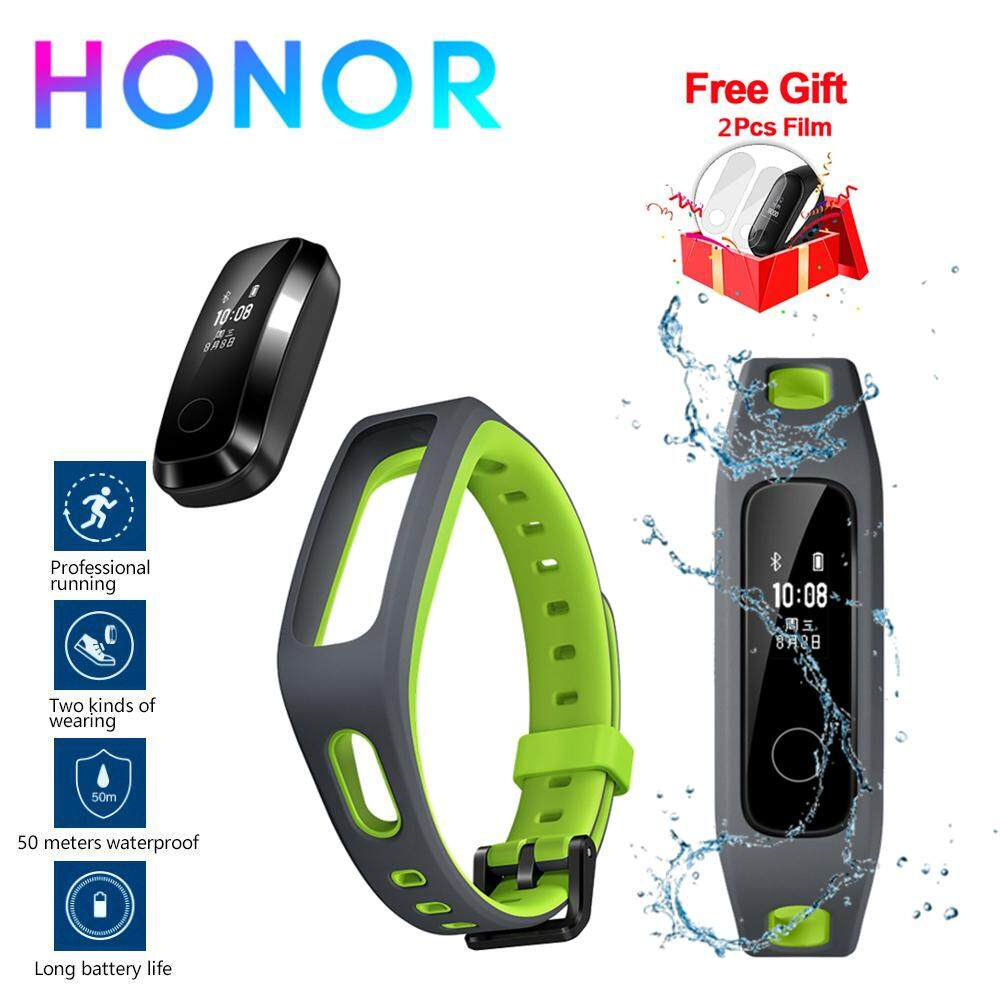 [50m Waterproof] Original Honor Band 4 Running Version Smart Wristband Shoe-Buckle Land Impact Professional Advice Sleep Snap