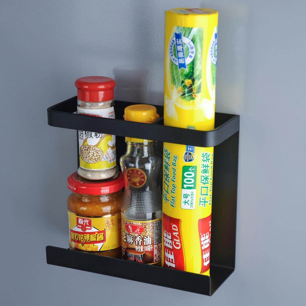 BolehDeals Magnetic Shelf Rack Refrigerator Spice Storage Basket Kitchen Organizer
