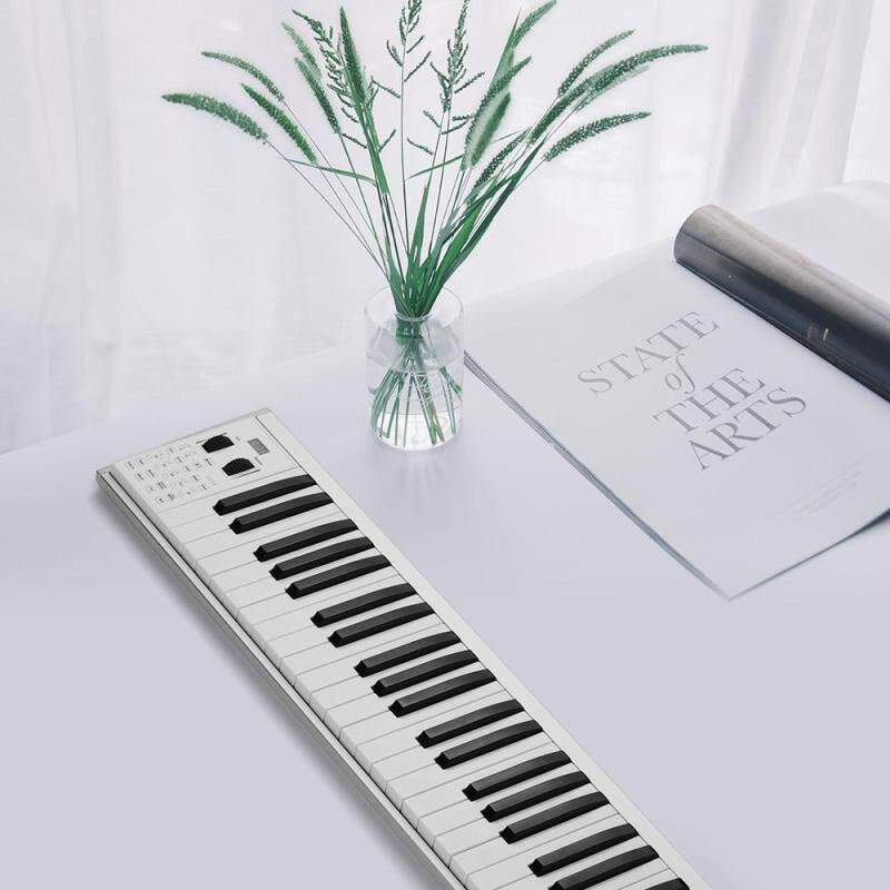 Portable Electronic Keyboard Piano 49 lighted Keys Piano 128 Tones 128 Rhythm 100 Demo Songs Can Teaching Recording MIDI Functions Connection Rechargeable Batt-ery Speaker Carry Bag Malaysia