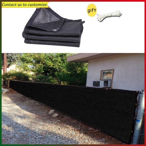 1x2m 1x3m 1x4m 1x5m 1x6m Black Color Privacy Fence Net Courtyard Protection Net Outdoor Garden Anti-Uv Sunscreen Shade Sails Sunblock Shade Cloth Net