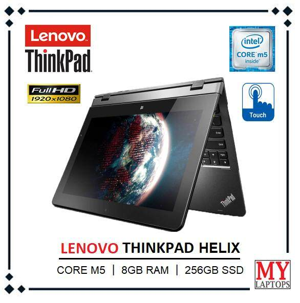 Lenovo ThinkPad Helix /Core M-5Y71 / 8GB RAM / 256 SSD  /11.6 FULL HD TOUCH SCREEN(1920 x 1080) / 4G SUPPORTED / WINDOWS 10 PRO (REFURBISHED) Malaysia