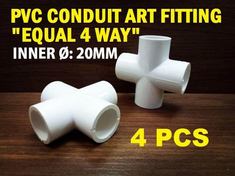 4PCS X 20MM EQUAL 4 WAY PVC CONDUIT ART FITTING