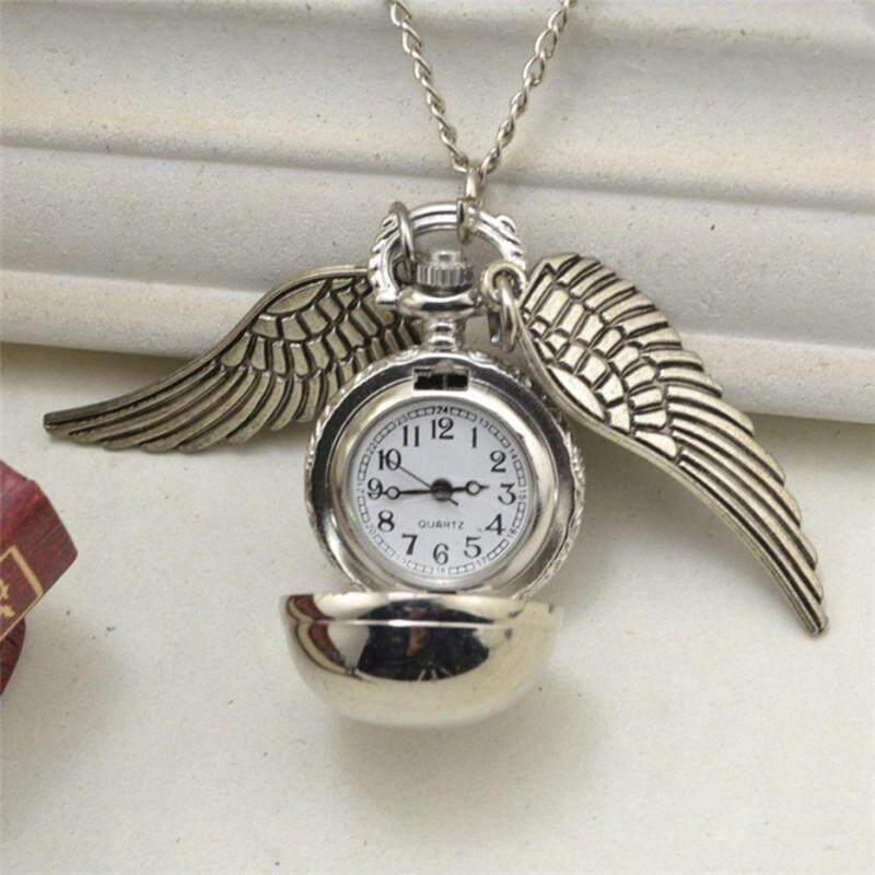 Hot Sellers Elegant Snitch Quartz Fob Pocket Watch Pendant Necklace Chain for Men Women Malaysia