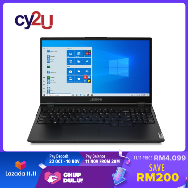 Lenovo Legion 5 15IMH05 82AU00D0MJ 15.6 FHD 144Hz Gaming Laptop (Intel Core i5-10300H, 8GB RAM, 512GB SSD, NVD GTX1650, Win10) + Free MS Office H & S and Legion Backpack Malaysia