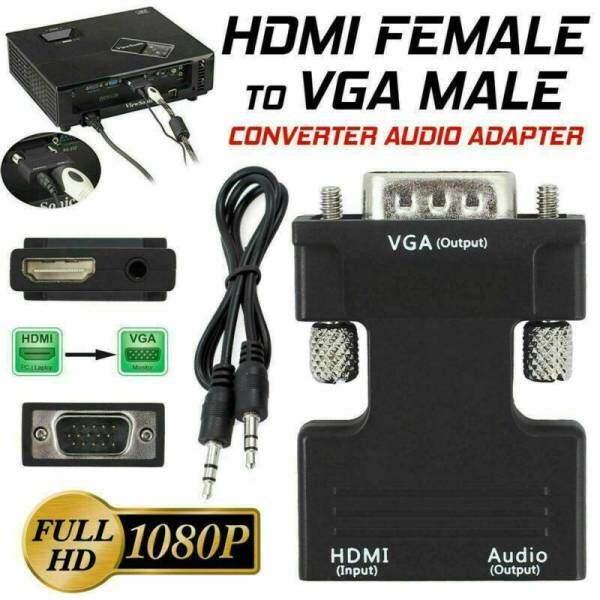 Bộ Chuyển Đổi Cáp VGA Sang HDMI Với Bộ Chuyển Đổi Video Âm Thanh Bộ Chuyển Đổi Cáp Truyền Dữ Liệu Nhanh Bộ Chuyển Đổi VGA Sang HDMI Máy Chiếu Màn Hình HDTV Máy Tính Xách Tay TV-Box PS3