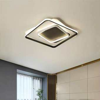 โมเดิร์นโคมระย้า LED ไฟอะคริลิคสำหรับห้องนั่งเล่นห้องนอนชุดโคมไฟระย้าติดตั้งบนเพดานจัดส่งฟรี-