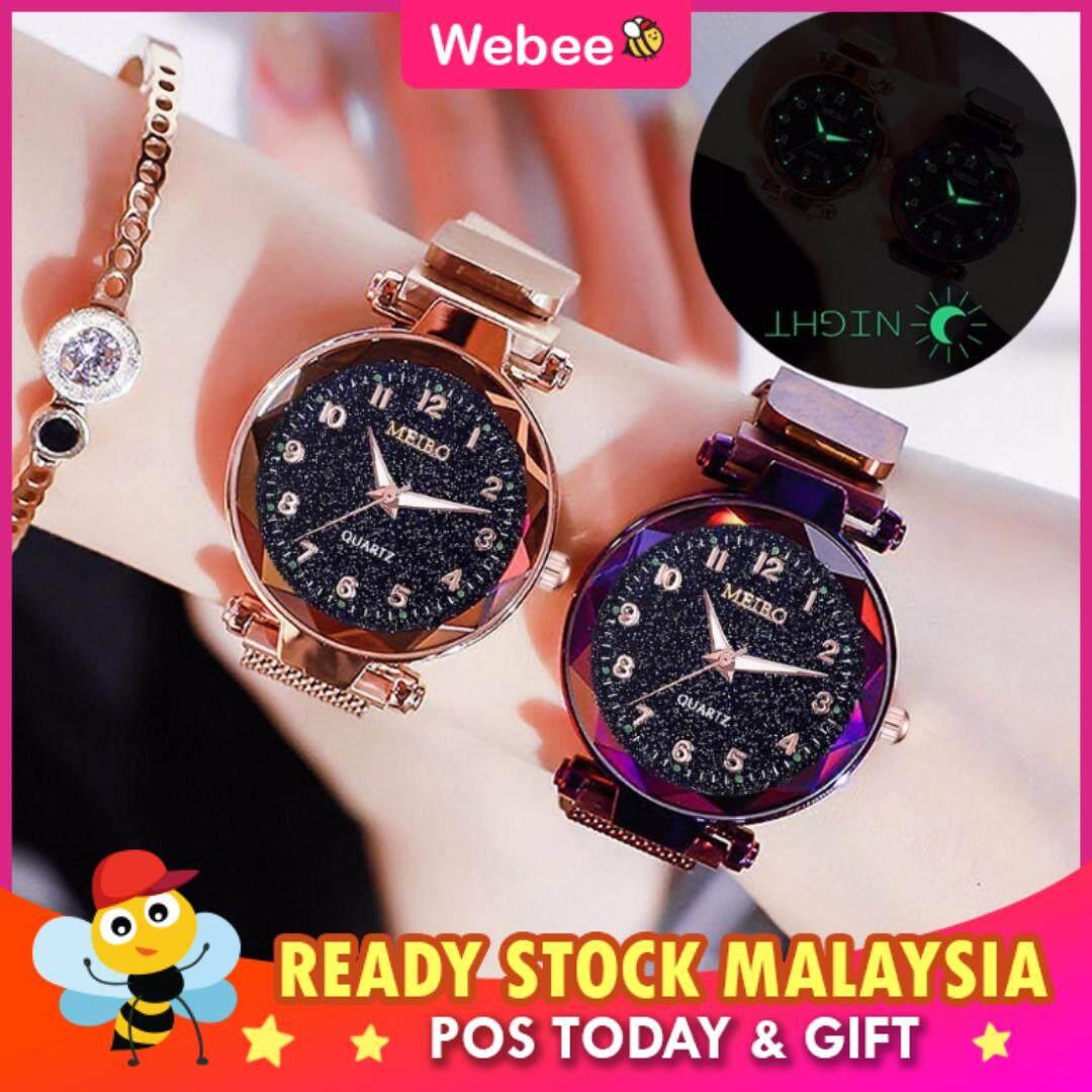 WEBEE Malaysia JT Meibo Magnetic Buckle Stainless Steel Watch Jam Tangan Wanita Malaysia
