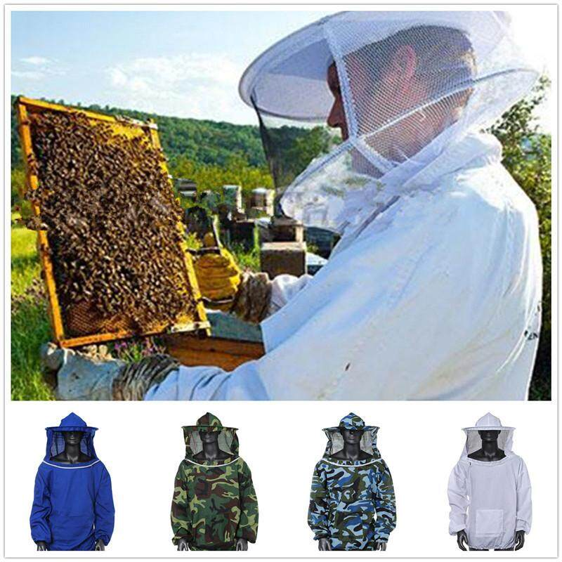 【Free Shipping + Flash Deal 】Beekeeping Jacket Veil Smock Equipment Supplies Bee Keeping Hat Sleeve Suit New(4 Color for Choice)