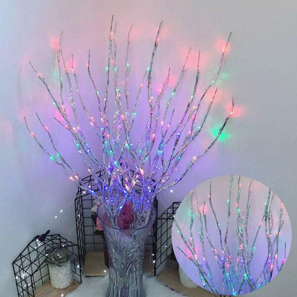 【Hình ảnh hiệu ứng là 7 nhánh đèn】Cành Cây Ánh Sáng Cây Mô Phỏng Cành Cây Đèn LED Phòng Ngủ Phòng Bố Trí Đèn Ban Đêm Đèn Dây Trang Trí