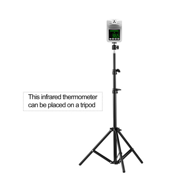 Non-Contact Digital Forehead Thermometer Wall-Mounted Infrared Thermometer and Tripod Bracket for Thermometer Adjustable Height 1.6M 1/4 Screw Tooth