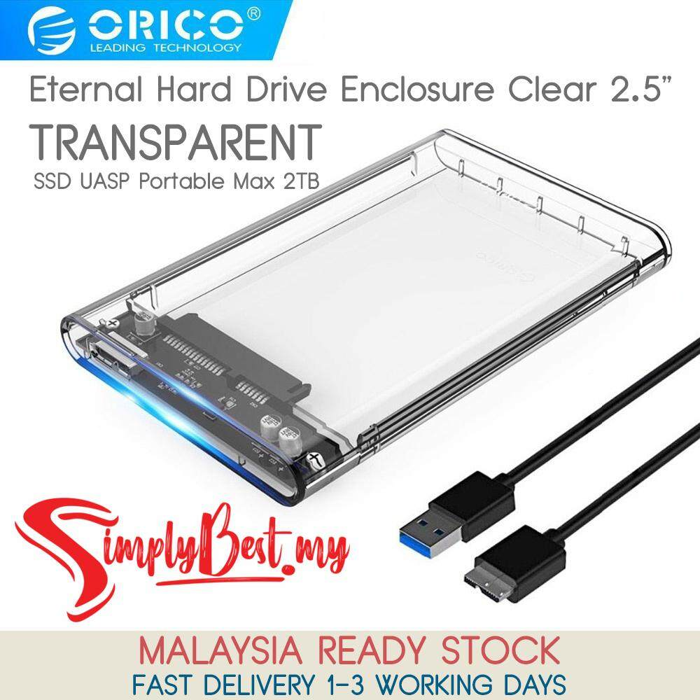 SIMPLYBEST ORICO Tool Free 2 5 inch Clear Box USB3 0 to Sata 3 0 HDD Case  Support 2TB UASP Protocol Hard Drive Enclosure External Hard Disk Case