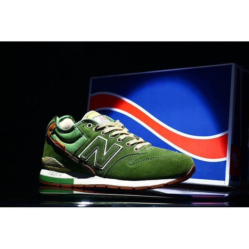 ยี่ห้อไหนดี  กระบี่ Original NEW BALANCE NB MRH996AH ทหารสีเขียวผู้ชายผู้หญิงรองเท้าผ้าใบที่ทำงาน