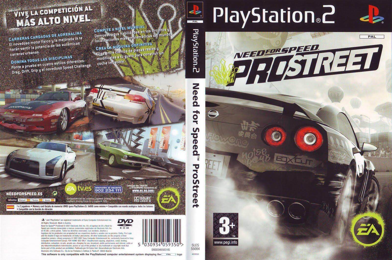 Ps2 Need For Speed Pro Street By Ithomas.