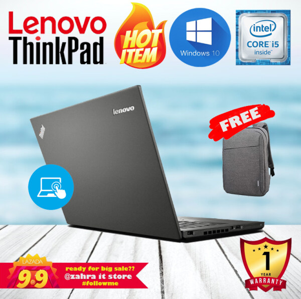 LENOVO THINKPAD T450 [TOUCHSCREEN] / 8GB RAM DDR3 / 256GB SSD / ULTRA THIN / WINDOWS 10 / 1 YEAR WARRANTY Malaysia