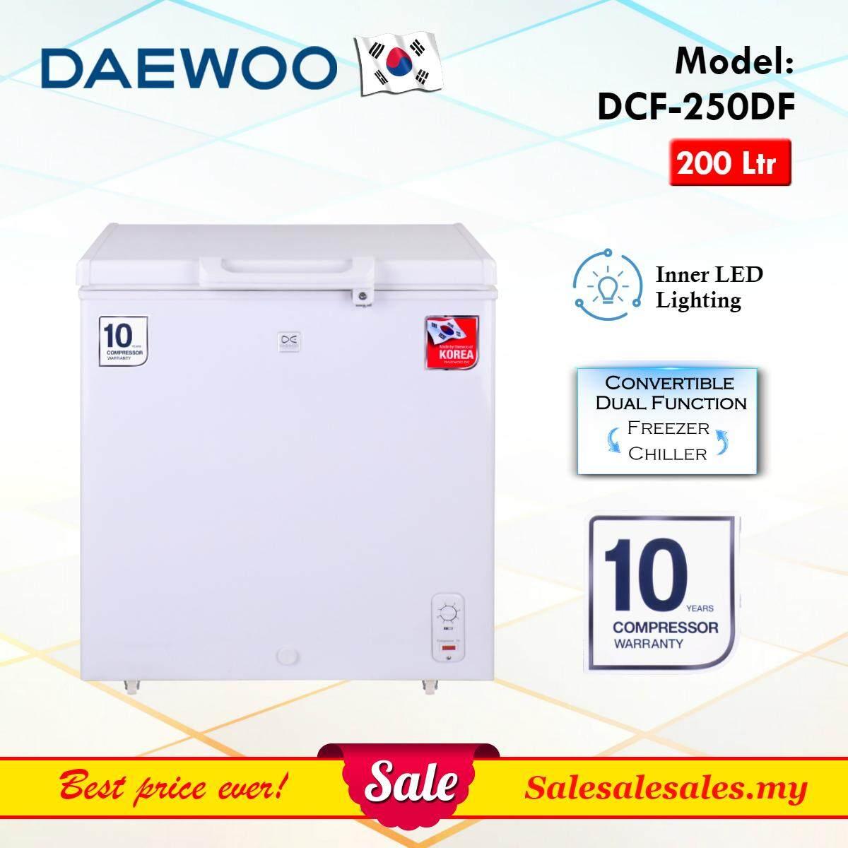 Daewoo Korea DCF-250DF Chest Freezer 200L (Net 186L) Peti Beku Dual Function *10YEAR WRTY*