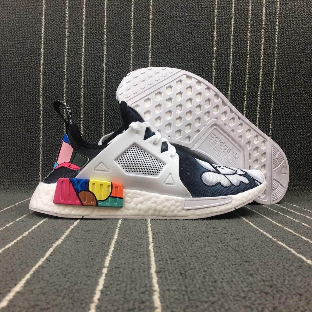 1449497d7 CM Original ADIDAS NMD R2 Running Shoes Men Women Sneakers Primeknit White  36-44
