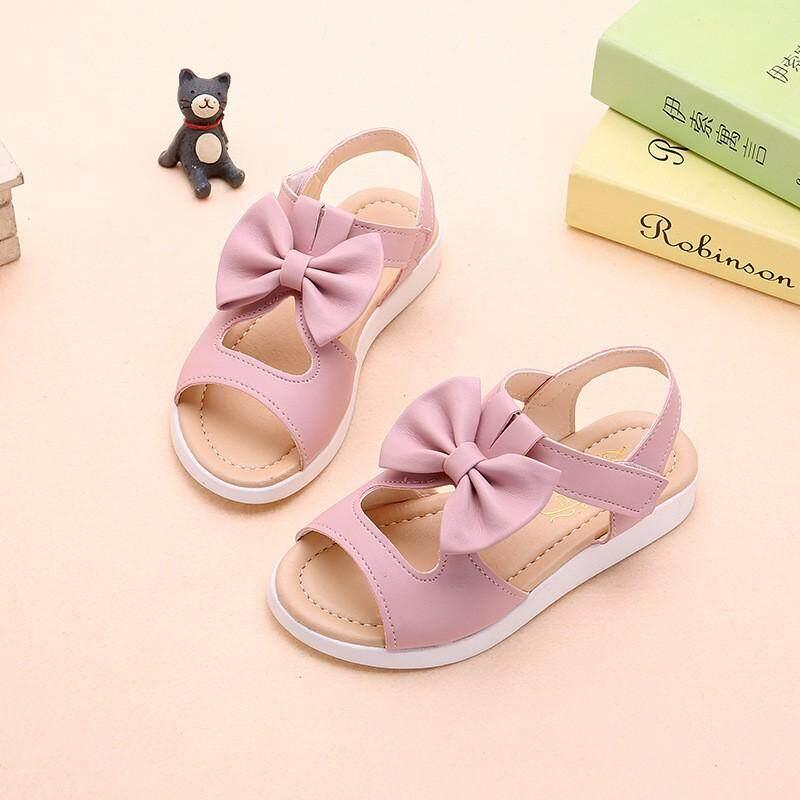 Sandal PU Busur Sepatu Bayi Fashion Musim Panas PU Busur Bayi Gadis Sandal Pantai untuk Anak