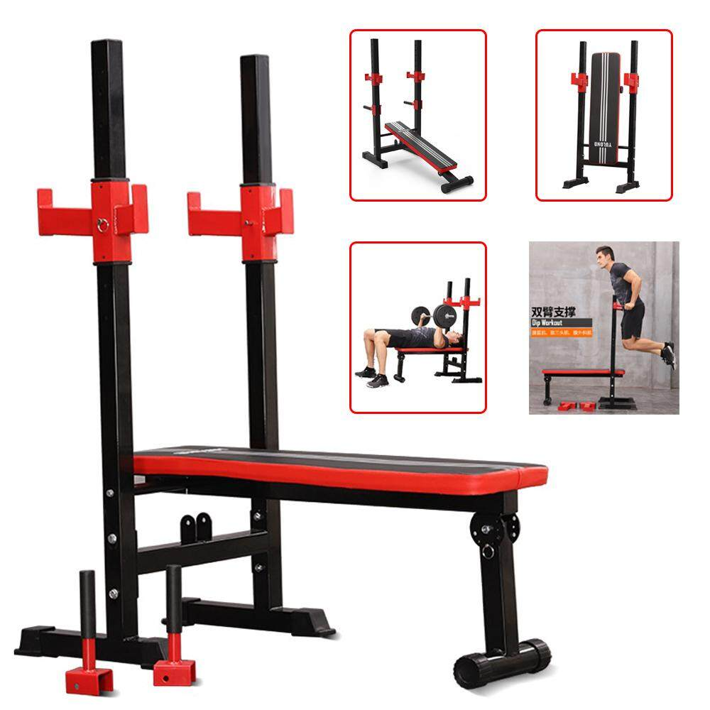 Sellincost Squat Rack Weightlifting Sit Up Bench Dip Station Adjustable Foldable Dumbbell Barbell Bench Press Weight Lifting Fitness Workout Bench