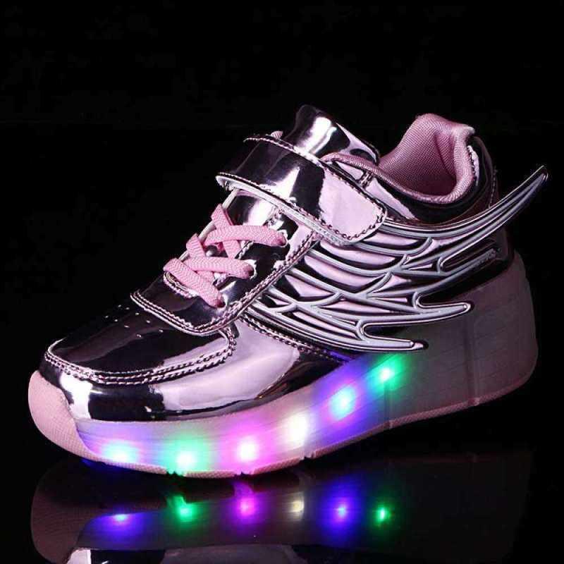 Phân phối Sạc Đèn LED Giày Một Bánh Xe Lăn Cánh