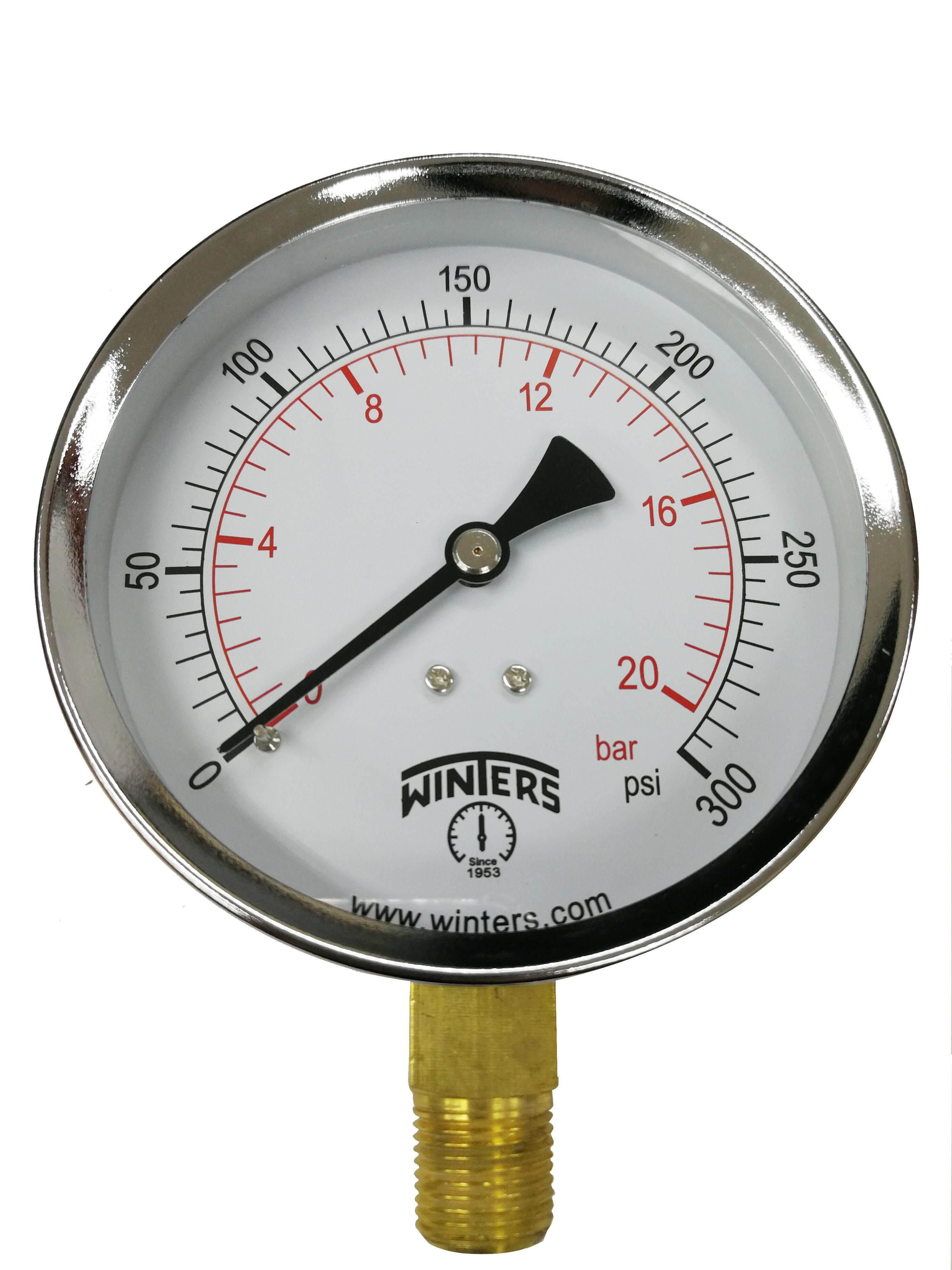 General Purpose Pressure Gauge 0/100 psi/kPa