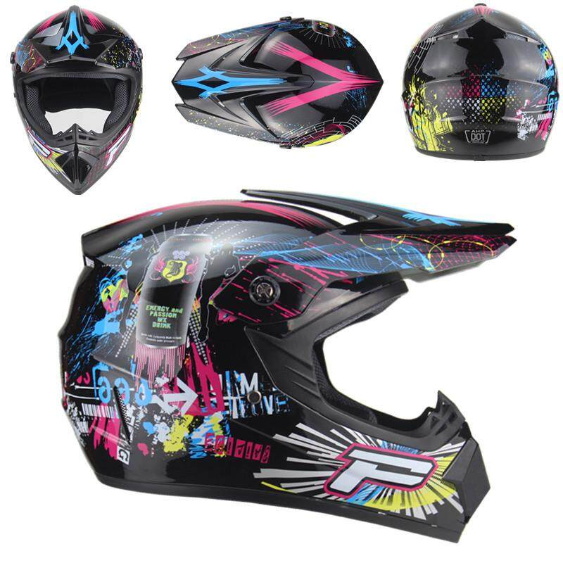 Red Motorcross Dirt Bike Off-road ATV Helmet Full Face Breathable Adult Gear