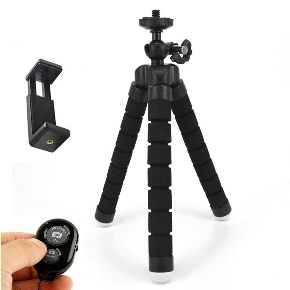 Goodgreat Phone Tripod, Portable And Adjustable Tripod Stand Holder With Bluetooth Remote For Iphone, Android Phone,camera With Universal Clip And Remote.