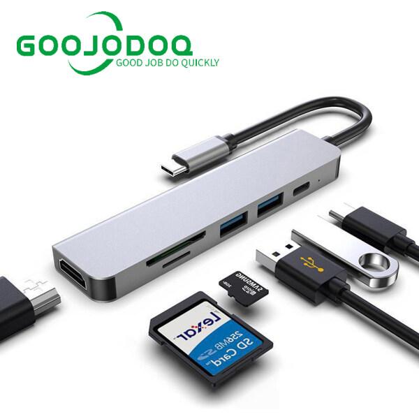 Bảng giá GOOJODOQ HDMI USB Type C 6 Trong 1 Hub 6 Cổng PD 87W Sạc 2 Cổng USB 3.0 4K HD Thẻ TF Thẻ Nhớ SD Đầu Đọc Thẻ Micro Bộ Chuyển Đổi Tốc Độ Cao Máy Tính Xách Tay MacBook Matebook Điện Thoại Phong Vũ