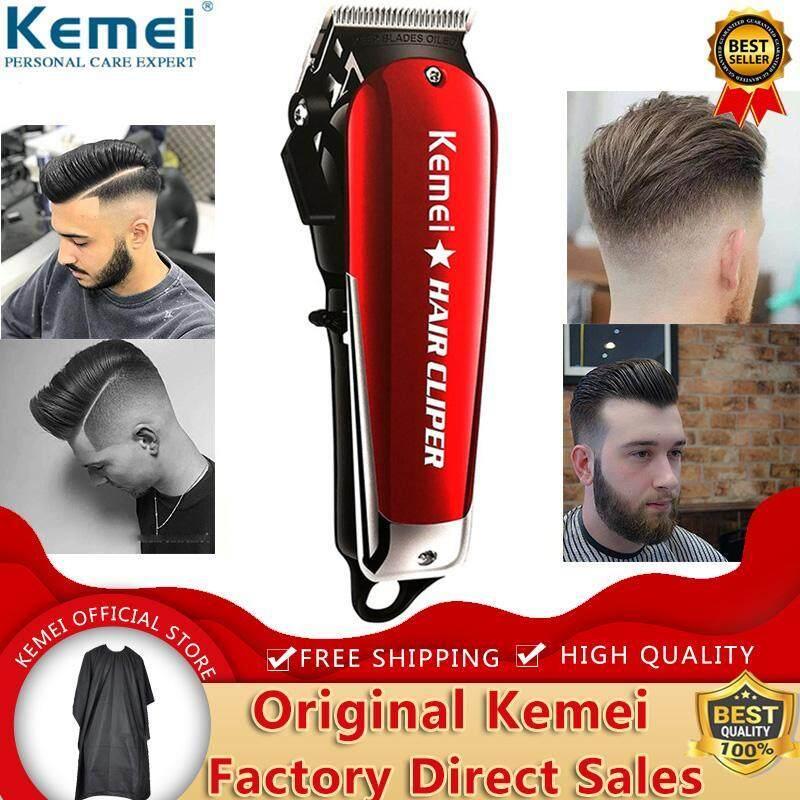 Hot Deal Khi Mua Kemei KM-2611 Professional Barber Cordless Electric Hair Tông đơ Beard Tông đơ Cắt Tóc LED Blade Carbon Steel Haircut Machine