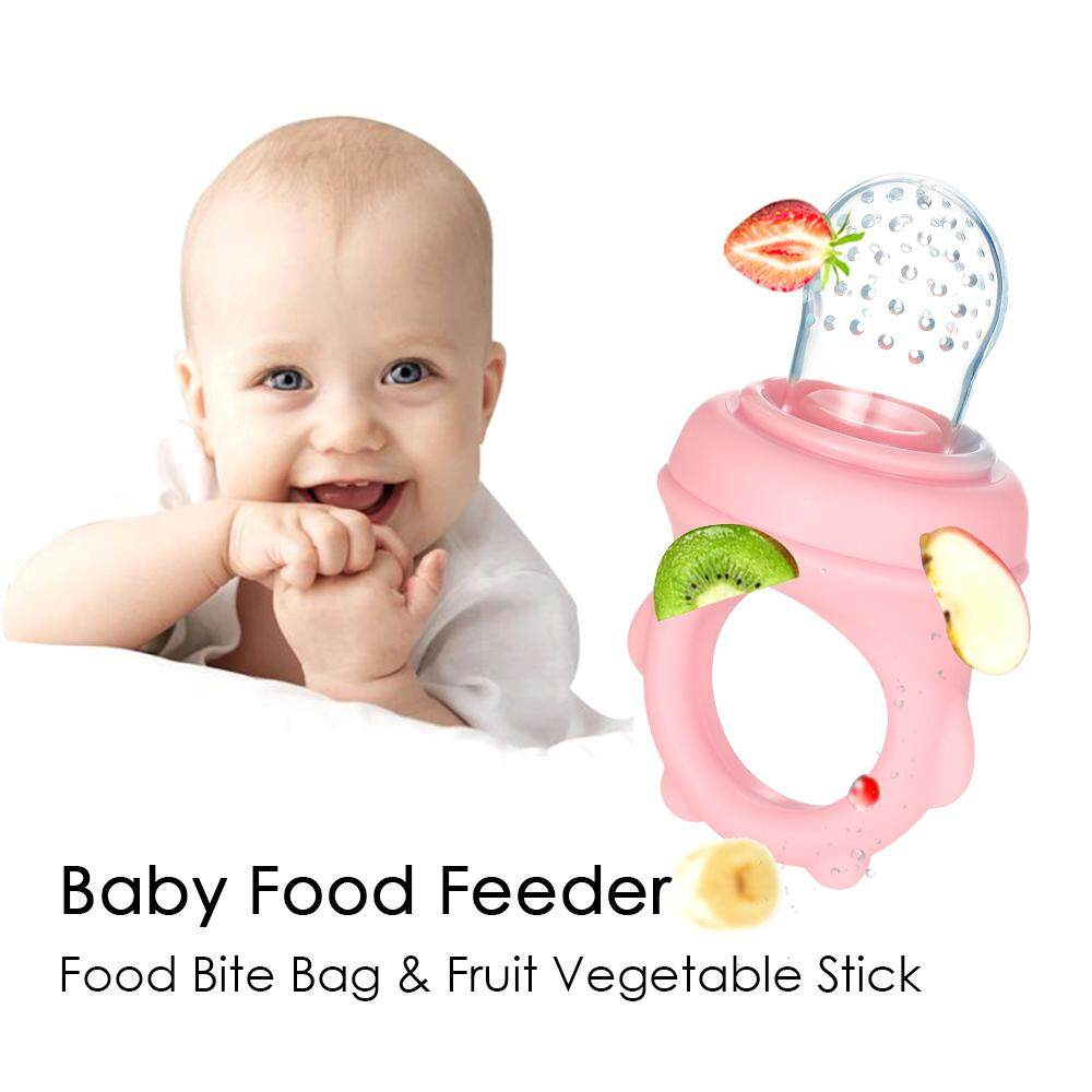Baby Food Feeder Fresh Fruit Vegetable Feeder Silicone Pacifier Teether Teething Toy for Infant Toddler Kid Easy to Clean