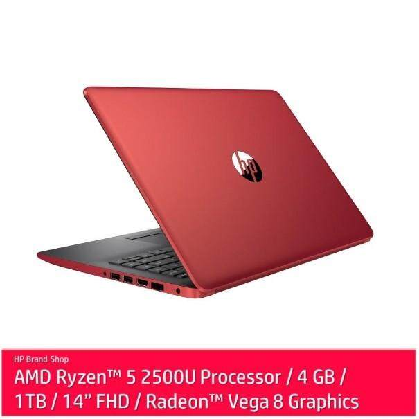 HP 14-cm0108AU  AMD Ryzen 5-2500U  4GB  1TB  14.0  AMD Share  W10 - Red (5SB94PA) Malaysia