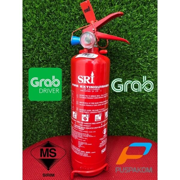 FAST DELIVERY!!![E-Hailing Driver]SRI 1KG ABC Dry Powder Type Fire Extinguisher Bomba Approved and Sirim Certified Pemadam Api