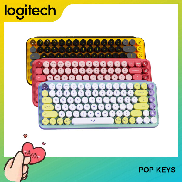 [Ready to Ship] Logitech POP KEYS Bluetooth Wireless Mechanical Keyboard TTC TACTILE for Computer Mobile Phone and Tablet Singapore