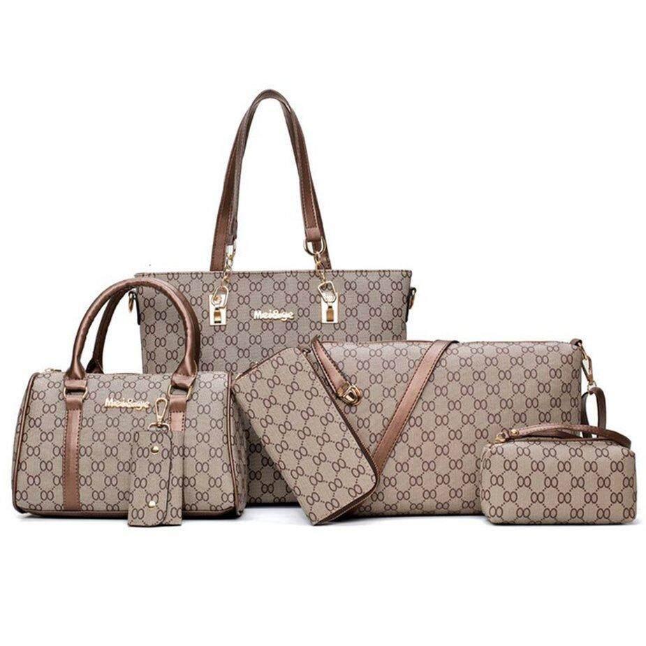 Hot Sale 6 pieces/set Fashion Composit Bag Large Capacity Handbag Shoulder Bag Wallet
