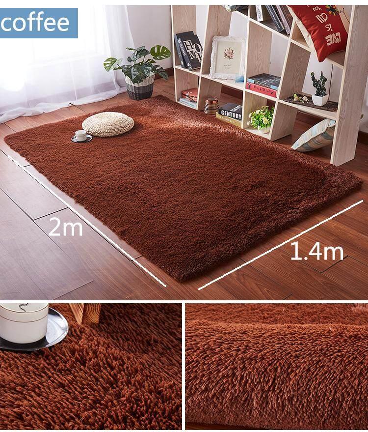 [free shipping]1.4 x 2m Fluffy Fashion Modern Floor Area Rug Carpet Mat Non
