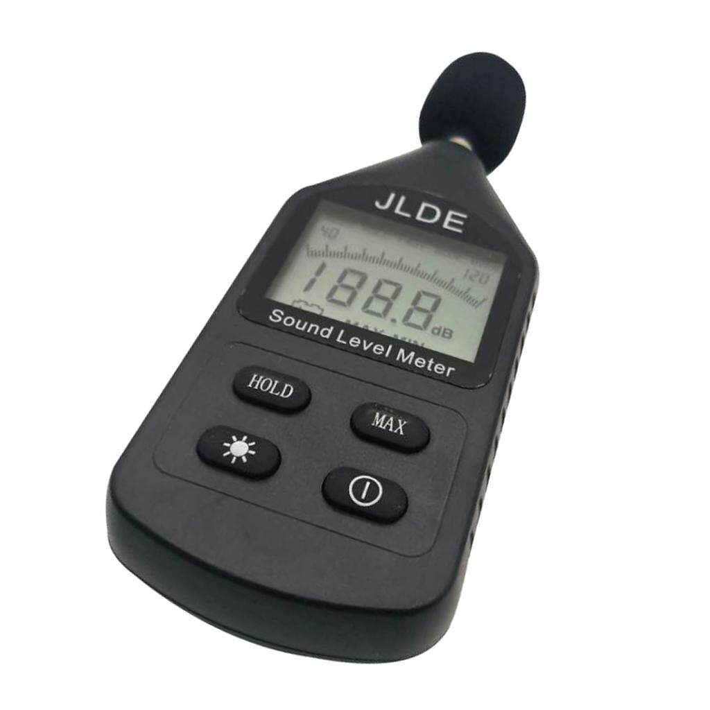 MagiDeal Mini Sound Level Meter HD LCD Display Handheld Protable 31.5Hz~8KHz 30~130dB