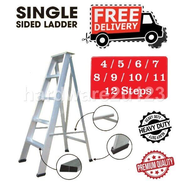 Aluminium Single Sided Ladder Single Side Tangga  4-5-6-7-8-9-10-11-12 Steps