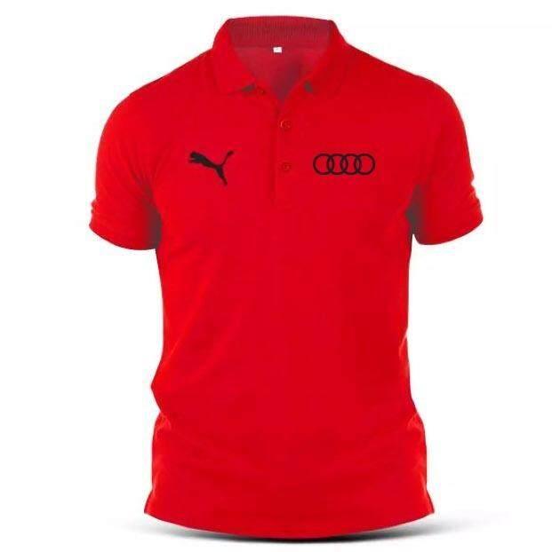 e31fed39f32 Jess Houz Audi Panther Racing Motorsports Hipster Collar Polo T-shirt [NP]